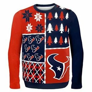 NFL Houston Texans Busy Block Ugly Sweater 1111